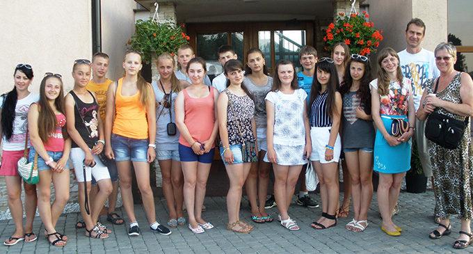 Młodzi Ukraińcy odpoczywają w Prudniku