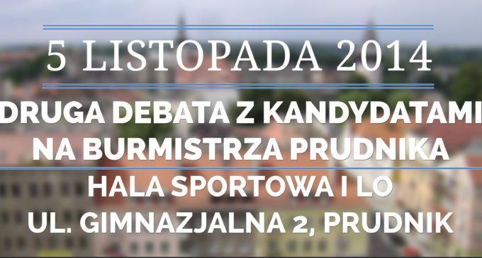 Druga debata kandydatów na burmistrza Prudnika już w środę 5 listopada!