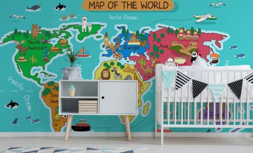 Mapa na ścianie, czyli dekorujemy wnętrze prawdziwego obieżyświata