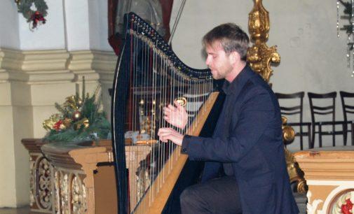 Unikatowy harfista wystąpił w swoim rodzinnym Prudniku
