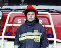 Bohaterski strażak z nagrodą