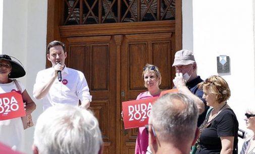 Zachęcali do głosowania na Andrzeja Dudę