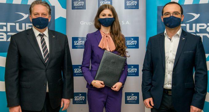 Magdalena Zawadzka z Kędzierzyna-Koźla Ambasadorem Marki Grupa Azoty