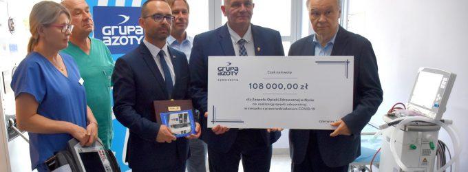 Kolejne wsparcie dla służby zdrowia. Grupa Azoty ZAK S.A. dofinansowała specjalistyczny sprzęt dla nyskiego ZOZ-u